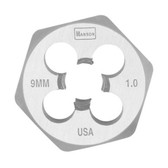"Irwin 9736 Hex Die, High Carbon Steel, 1"" Across the Flat, 9mm x 1.00, Carded"