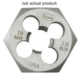 "Irwin 9739 Hex Die, High Carbon Steel, 1"" Across the Flat, 10mm x 1.25, Carded"