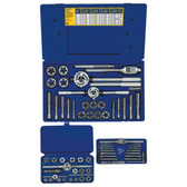 Irwin 97606 Tap and Die Set, 66 Piece, Hex Dies, # 4 to 1 Inch with Handles in Plastic Case