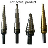 "Irwin U3T Unibit Step Drill Bit, Titanium Nitride Coated, 1/4"" to 3/4"", 9 Hole Sizes, 3/8"" Shank"