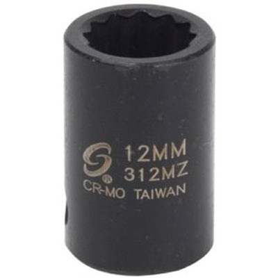 "Sunex 312MZ 3/8"" Dr. 12 Pt. 12mm Impact Socket"