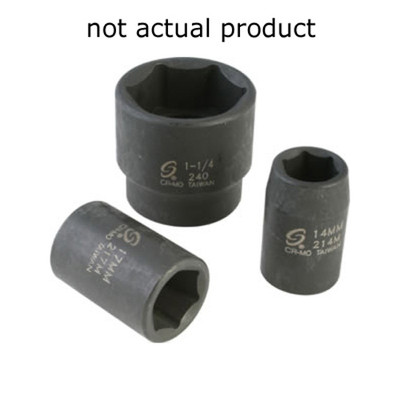 "Sunex 322ZM 3/8"" Dr. 12 Pt. 22mm Impact Socket"