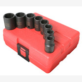 "Sunex 3651 3/8"" Dr. 8 Pc. Metric Impact Socket Set"