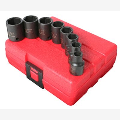 "Sunex 3650 3/8"" Dr. 8 Pc. SAE Impact Socket Set"