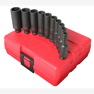 "Sunex 1811 1/4"" Dr. 10 Pc. SAE Deep Impact Socket Set"