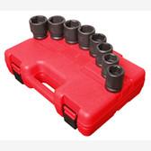 "Sunex 4680 3/4"" Dr. 8 Pc. SAE Impact Socket Set"