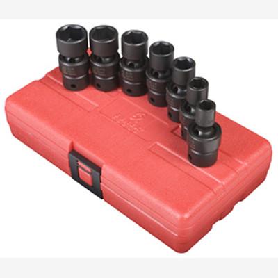 "Sunex 3654 3/8"" Dr. 7 Pc. SAE Universal Impact Socket Set"