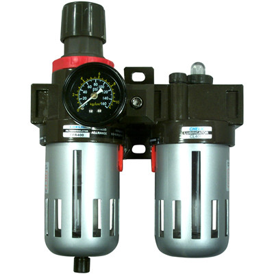 "Astro Pneumatic 2616 3/8"" Filter, Regulator and Lubricator with Gauge"