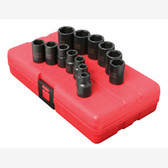 "Sunex 3358 3/8"" Dr. 13 Pc. Metric Impact Socket Set"