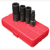 "Sunex 2724 1/2"" Dr. 4 Pc. SAE & Metric Deep Thin Wall Flip Socket Set"