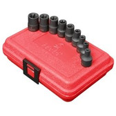 "Sunex 3670SE 3/8"" Dr. 9 Pc. External Star Impact Socket Set"