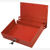 Sunex 8011 Large Locking Screwdriver/Pry Bar Holder for Service Cart-Red