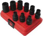"Sunex 2690SE 1/2"" Dr. 9 Pc. External Star Impact Socket Set"