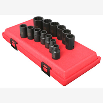 "Sunex 2679 1/2"" Dr. 12 Pt. 13 Pc. Metric Impact Socket Set"