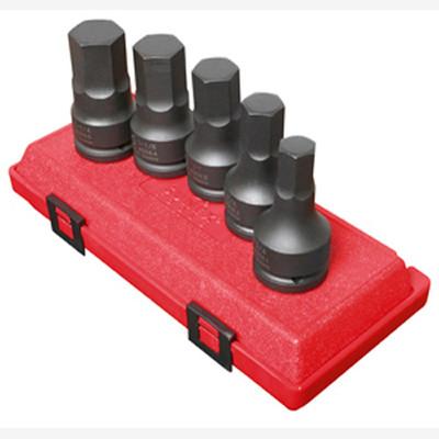 "Sunex 4506 3/4"" Dr. 5 Pc. SAE Hex Drive Impact Socket Set"