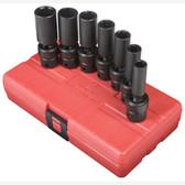 "Sunex 3656 3/8"" Dr. 7 Pc. SAE Universal Deep Impact Socket Set"