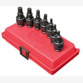 "Sunex 3658 3/8"" Dr. 7 Pc. SAE Universal Hex Impact Socket Set"