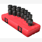 "Sunex 2654 1/2"" Dr. 7 Pc. SAE Universal Impact Socket Set"