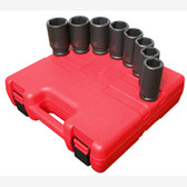 "Sunex 4681 3/4"" Dr. 8 Pc. SAE Deep Impact Socket Set"