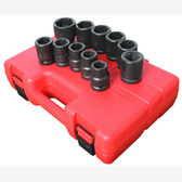 "Sunex 4682 3/4"" Dr. 11 Pc. SAE Truck Service Impact Socket Set"