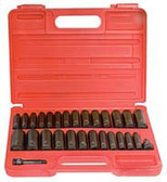 "Sunex 3360DD 3/8"" Dr. 28 Pc. SAE & Metric Master Double Deep Impact Socket Set"