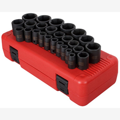 "Sunex 2645 1/2"" Dr. 26 Pc. Metric Impact Socket Set"