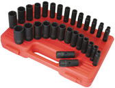"Sunex 5153DD 1/2"" Dr. 29 Pc. SAE & Metric Master Double Deep Impact Socket Set"