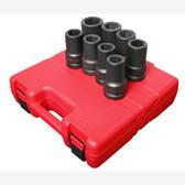 "Sunex 5681 1"" Dr. 8 Pc. SAE Deep Impact Socket Set"