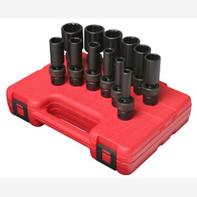 "Sunex 3677 3/8"" Dr. 12 Pt. 12 Pc. SAE Universal Deep Impact Socket Set"
