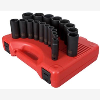 "Sunex 2641 1/2"" Dr. 19 Pc. SAE Deep Impact Socket Set"
