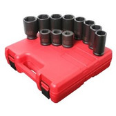 "Sunex 4011M 3/4"" Dr. 11 Pc. Metric Truck Service Impact Socket Set"