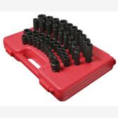 "Sunex 2669 1/2"" Dr. 39 Pc. Metric Master Impact Socket Set"