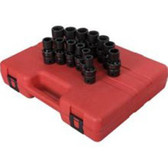 "Sunex 2665 1/2"" Dr. 13 Pc. Metric Universal Impact Socket Set"