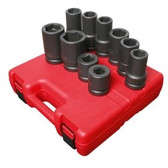 "Sunex 5690A 1"" Dr. 10 Pc. SAE & Metric Heavy Duty Wheel Impact Socket Set"
