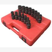 "Sunex 2855 1/2"" Dr. 12 Pt. 15 Pc. Metric Universal Impact Socket Set"