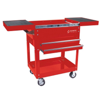 Sunex 8035R Compact Slide Top Utility Cart Red