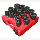 "Sunex 4683 3/4"" Dr. 17 Pc. SAE Heavy Duty Impact Socket Set"