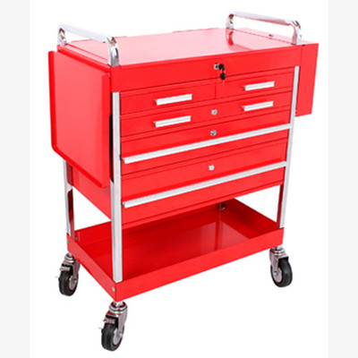 Sunex 8045 Professional 5 Drawer Service Cart w/Locking Top-Red