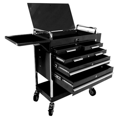 Sunex 8045BK Professional 5 Drawer Service Cart w/Locking Top-Black