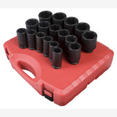 "Sunex 4685 3/4"" Dr. 17 Pc. SAE Deep Impact Socket Set"