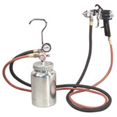 Astro Pneumatic 2PG7S 2 Quart Presssure Pot with Spray Gun and Hose