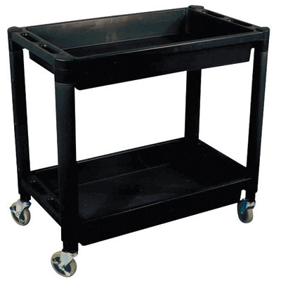 Astro Pneumatic 8330 Plastic 2 Shelf Utility Cart