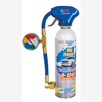 FJC 501 R134a with Synthetic Refrigerant Oil, Extreme Cold Synthetic Performance Enhancer, Advanced Formula Stop Leak Sealer and O'ring and System Conditioners.  Removes Moisture  22 oz