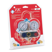 FJC 6697 R134a/R12/R22 Dual Gauge Set Aluminum Manifold
