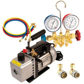 FJC 9281 Vacuum Pump & Gauge Set Assortment