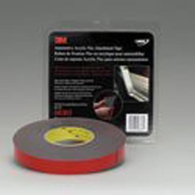 3M 06383 Gray 7/8 X 20 Yard Automotive Acrylic Plus Attachment Tape