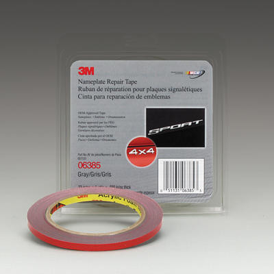 3M 06385 Gray .236 X 5 Yard Nameplate Repair Tape