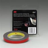 3M 06384 Gray 1/2 X 5 Yard Automotive Acrylic Plus Attachment Tape