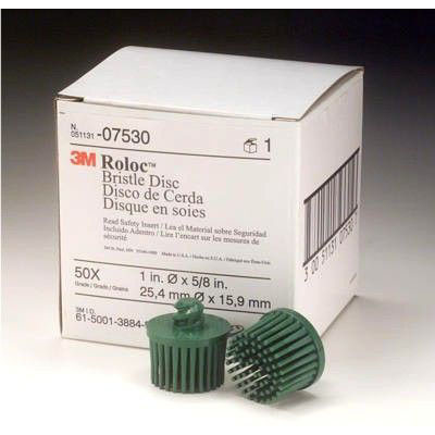 "3M 07530 1"" Green Bristle Disc Coarse"