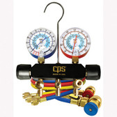 CPS Products MAIA6Q Blackmax A/C Manifold Gauge Set, for R134a